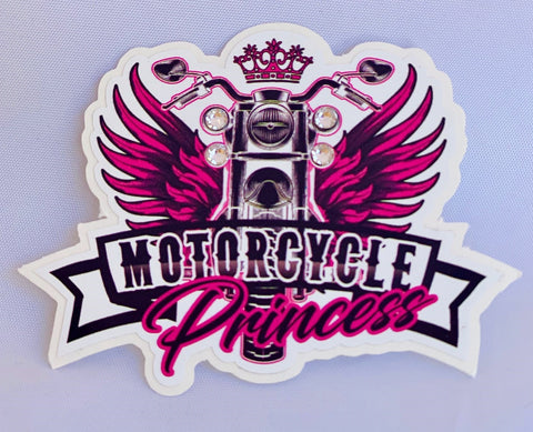 Motorcycle Princess Decal #3