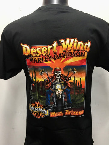 Desert Wind HD Skull Rider Sunset