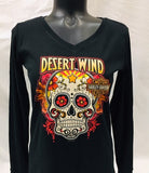 Sugar Skull Ladies Custom Long Sleeve Tee