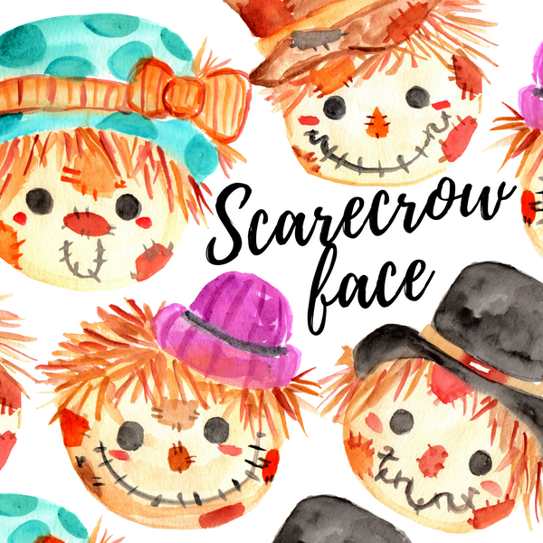 FREE Scarecrow face clipart