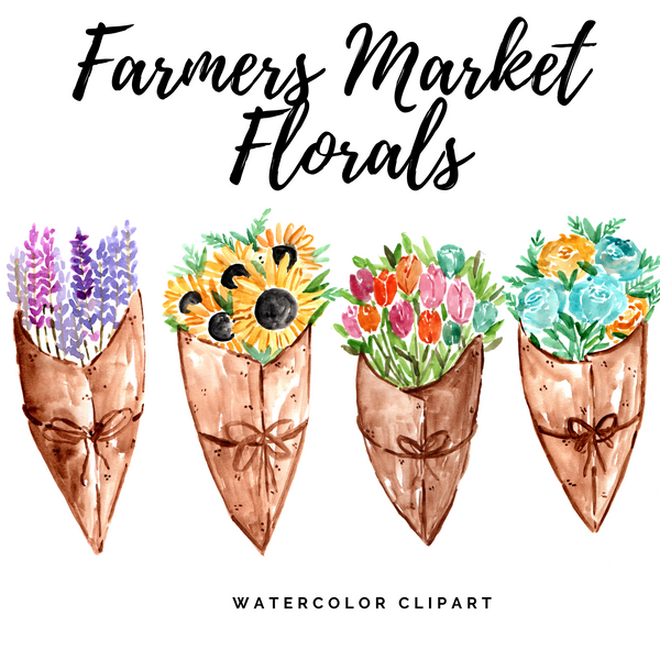 FREE Farmers Market Floral Clipart