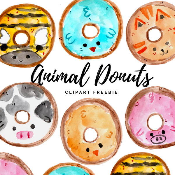 FREE Animal Donut clipart