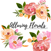 Alluring watercolor floral clipart