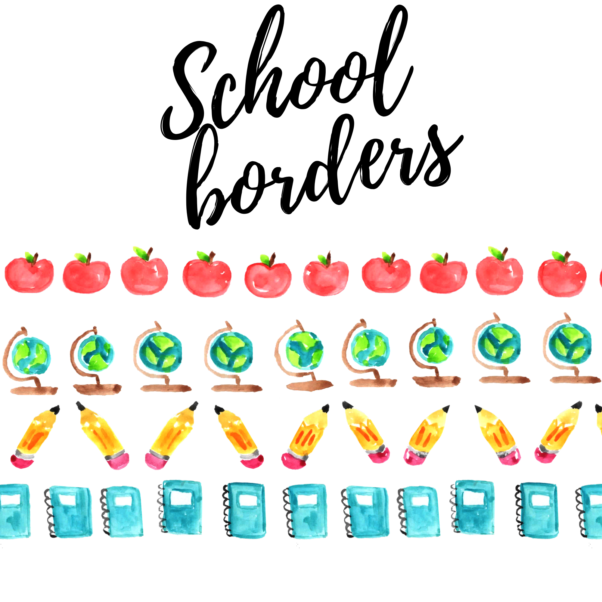 FREE back to school borders clipart