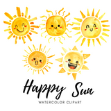 FREE Happy Sun clip art