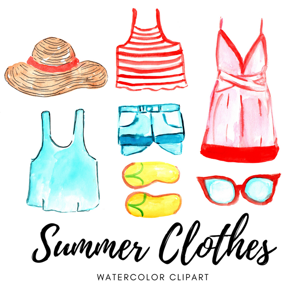 FREE summer clothes clipart