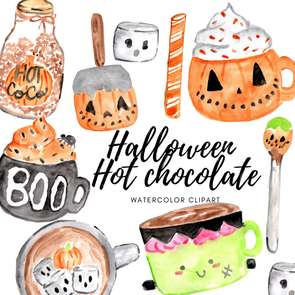 Halloween Hot Chocolate Clipart