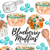 FREE Blueberry muffin clipart