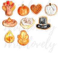Thanksgiving cookies clipart