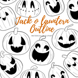 Digital Jack O Lantern clipart