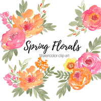 Watercolor Spring Florals