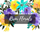 River Floral Clipart Set