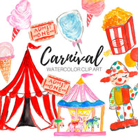 Carnival Party Watercolor clipart