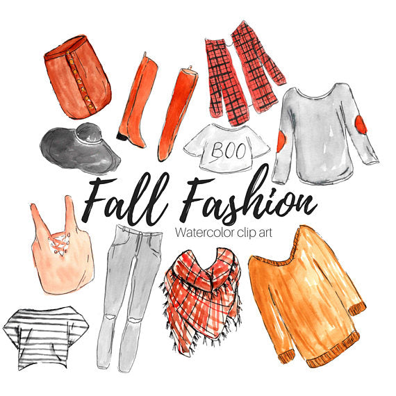 Fall Fashion Clipart
