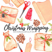 Christmas wrapping paper clipart