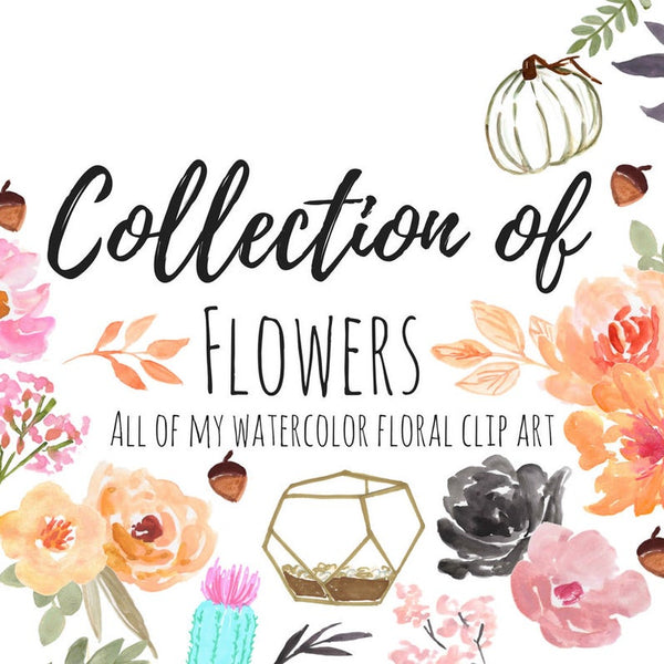 All Watercolor Flowers Bundle
