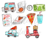 Pizza Delivery clipart
