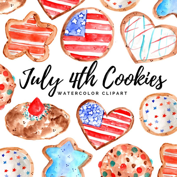 July 4th Cookie clipart