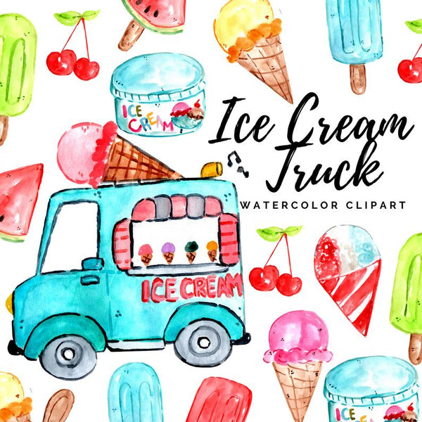 Ice Cream Truck Clipart