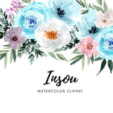 Insou watercolor flower clipart