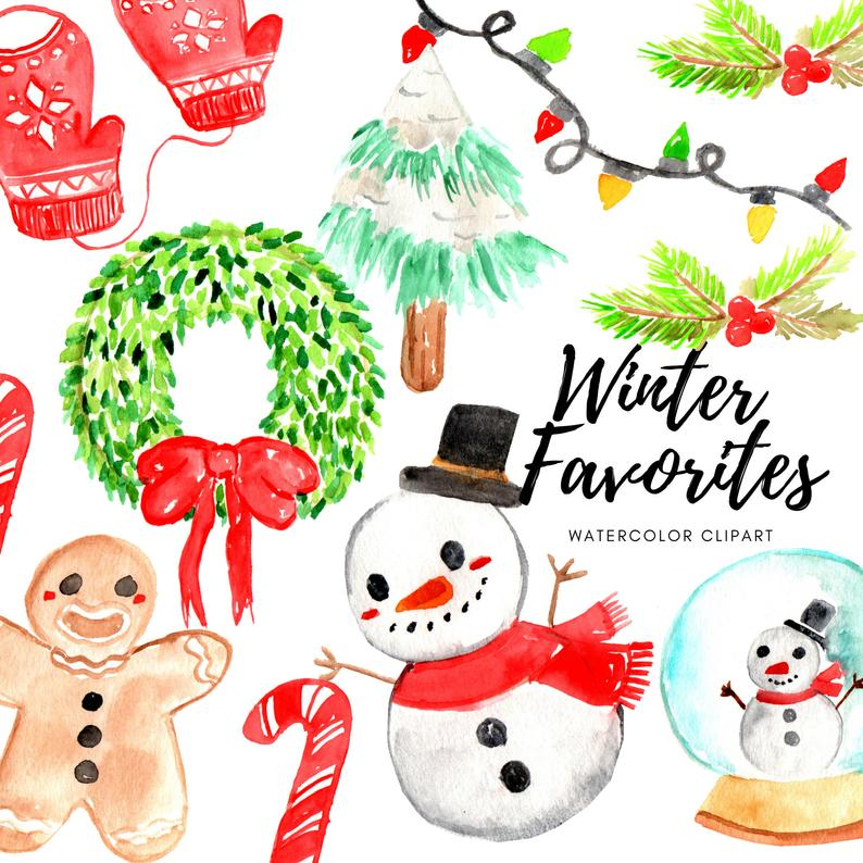 Winter favorites clipart