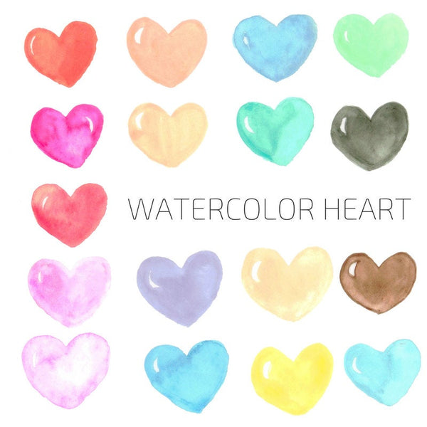 Watercolor Heart Clip Art