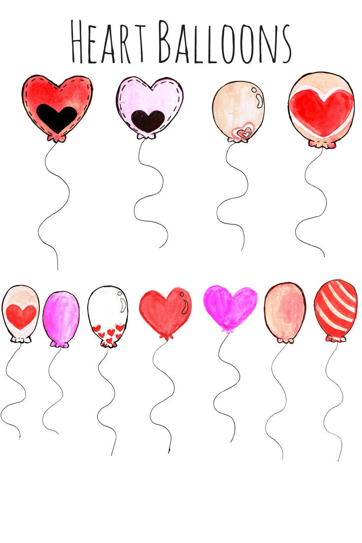 Valentines day balloon clipart