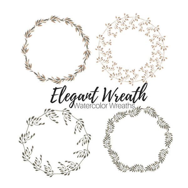Elegant Flower Wreath Clip Art