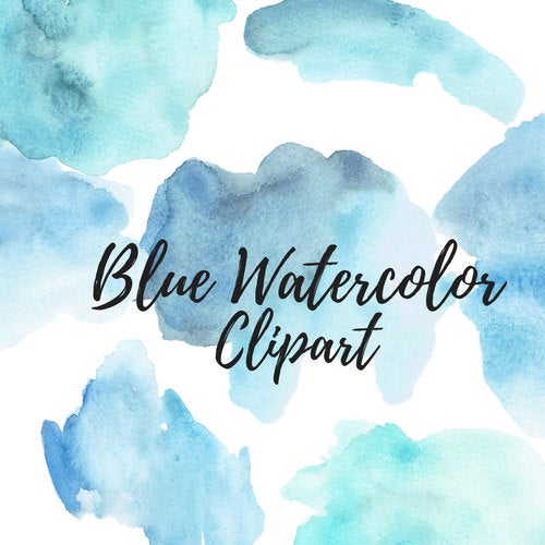 Blue Watercolor Splash Clipart