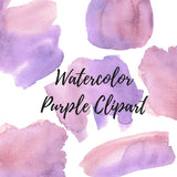Purple Watercolor splat clip art