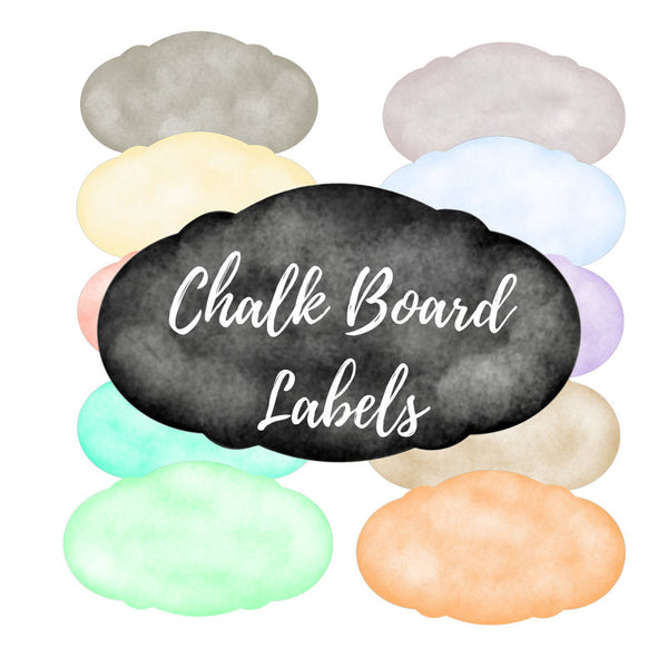 Chalk Board Labels clipart