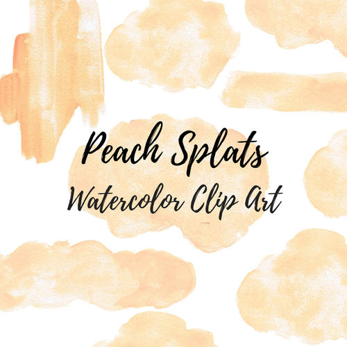 Peach Watercolor Splash clipart