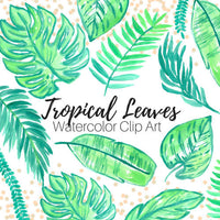 Tropical Leaves Clip Art