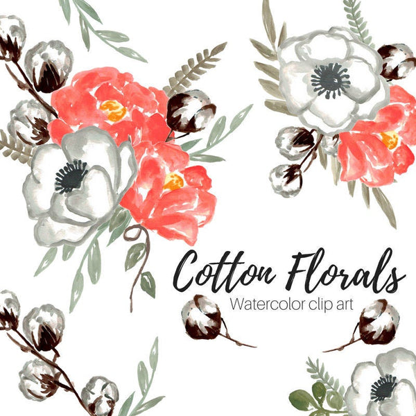 Rustic Wedding Floral Clipart