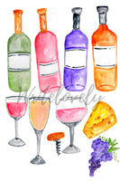 Wine vineyard clip art