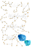 Constellation star galaxy clip art