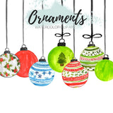 Christmas holiday ornament clipart