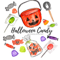 Halloween candy clipart