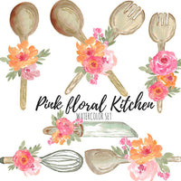 Wedding floral kitchen clip art