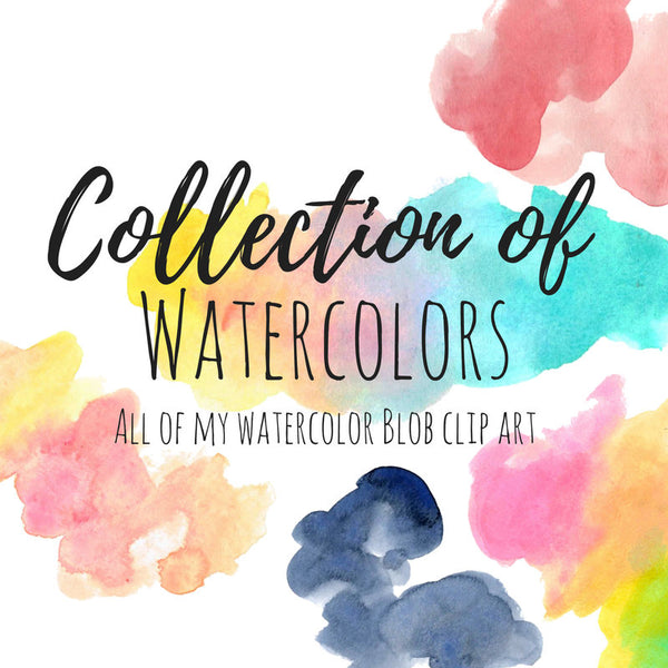 Watercolor Blob Collection Bundle