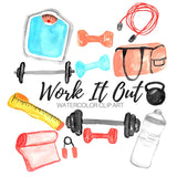 Gym workout clip art