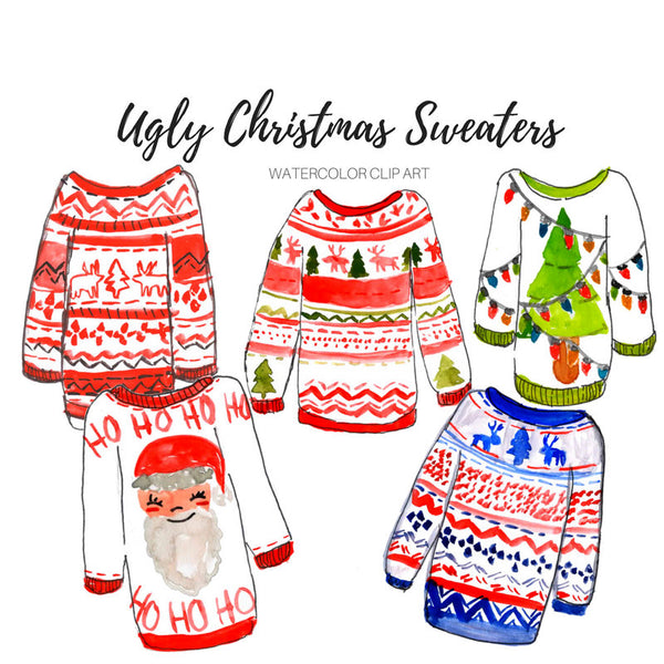 Christmas ugly christmas sweater clipart
