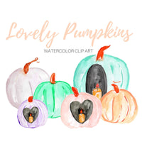 Halloween Pastel Pumpkin clip art