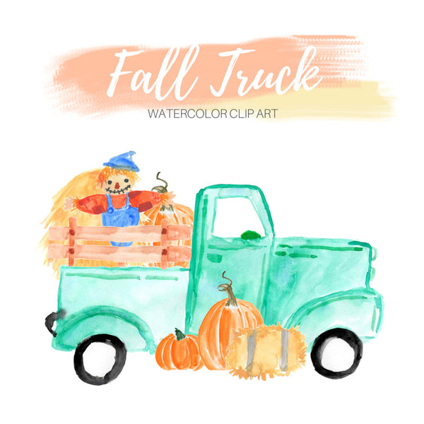 Pickup Truck harvest clip art