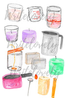 candle making clipart