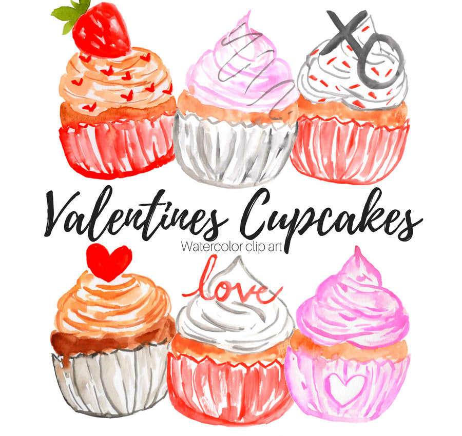 valentines day cupcake clipart