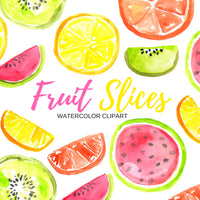 Tropical Fruit slices Clipart