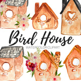 Spring bird house clipart