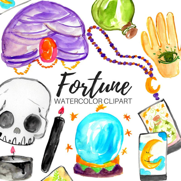 halloween Fortune teller clipart