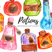Halloween magic potion clipart